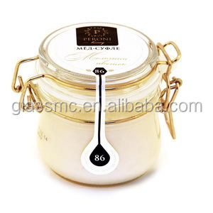 factory price glass jar 1000ml honey jar for storage and jam with clip lids