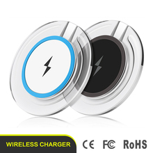 Hot sale crystal wireless charger mobile qi wireless cellphone battery charger for Samsung