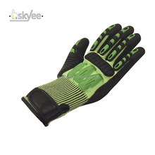 13G HPPE nitrile palm oil resistant safety mechanical work gloves