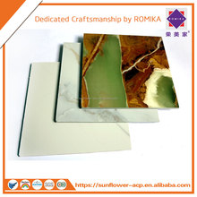 Eco friendly Vinyl panel /PVC Artificial marble Board/ Sheet/PVC wall Panelling for Interior Decoration