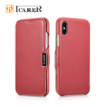 ICARER Shockproof Premium Leather Mobile Phone Case for iPhone 8