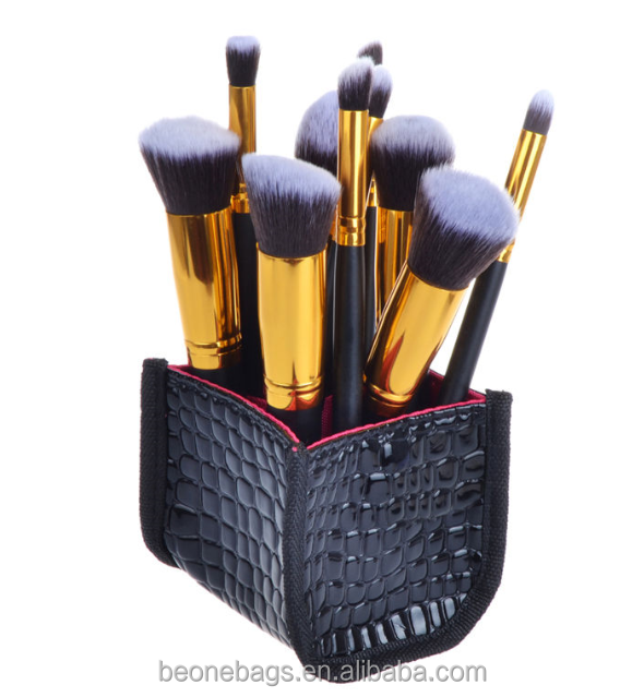 Crocodile leather hard makeup case cosmetic brush makeup case