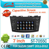 HD1024*600 QUAD CORE For Suzuki Swift Android 4.4 Bluetooth Audio Radio 3g Wifi MP3 GPS Car DVD Player