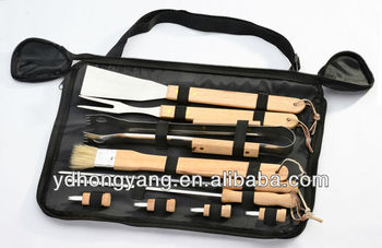 10- Pieces wooden barbecue tool For gift