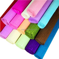 colorful crepe paper wax paper for flower packaging artwork paper