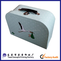Children cardboard owl suitcase for kids gift box