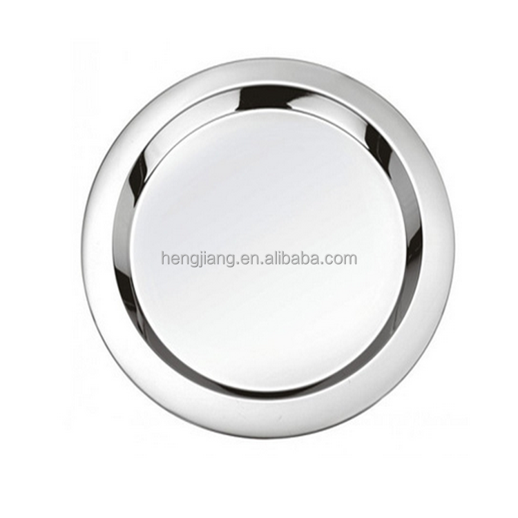 High Quality Metal Flat Plates Mirror Food Serving Tray