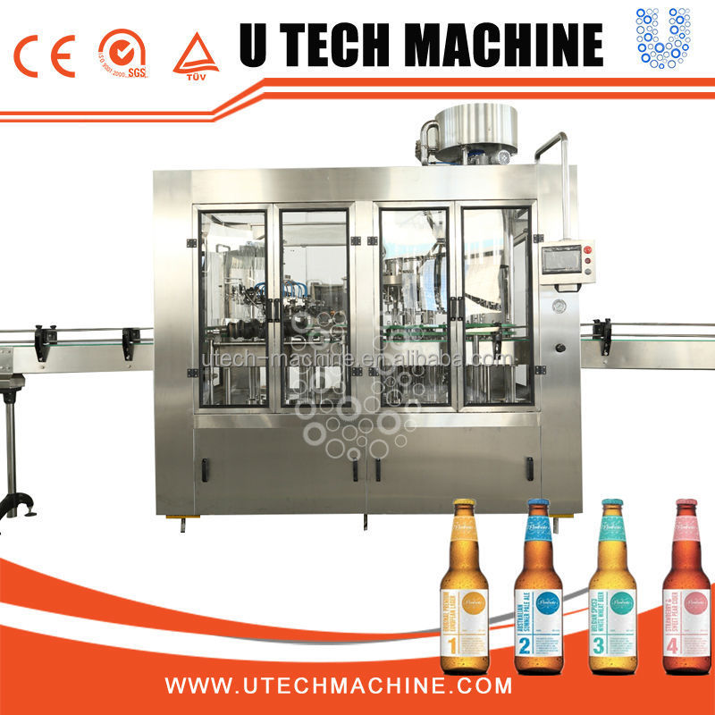 full automatic PLC glass bottle juice filling equipment