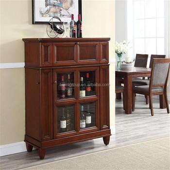Modern Design Living Room Docorative Wine Cabinet Wood Wine Storage Cabinet