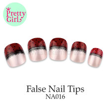 Mirror Surface two color Long lasting False Fake Nail Tip NA016