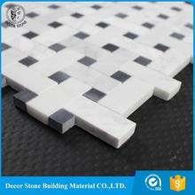 Professional white basketweave living rooms interior wall tile design