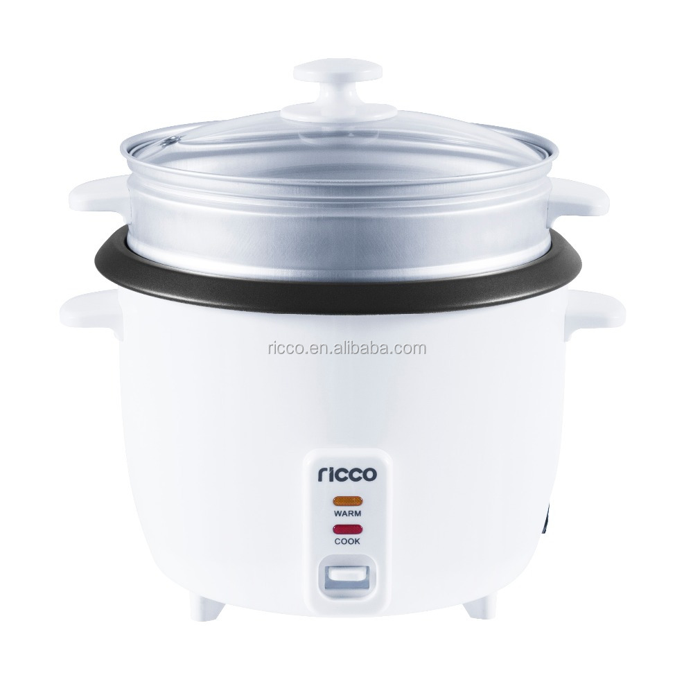 Electric national rice cooker in white
