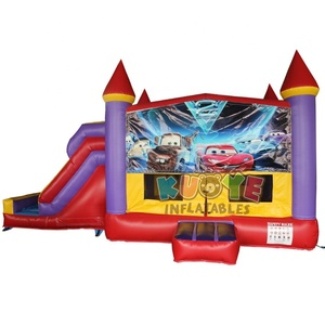 Hot sell small inflatable bouncy castle with slide,high quality inflatable combo,popular bounce house for party rental business