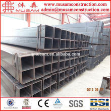 Building material/hollow tube/metal/Structure large diameter fence thin wall Q195 Tianjin Galvanized rectangular steel pipe