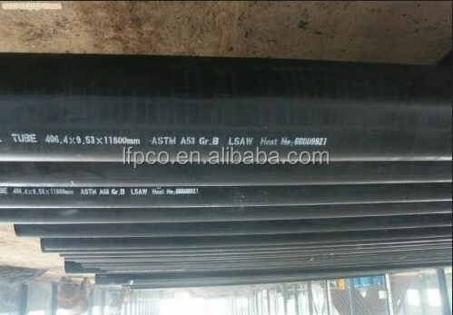 LSAW Welded Carbon Steel Line Pipes Liquid Transportation WT:59.54mm