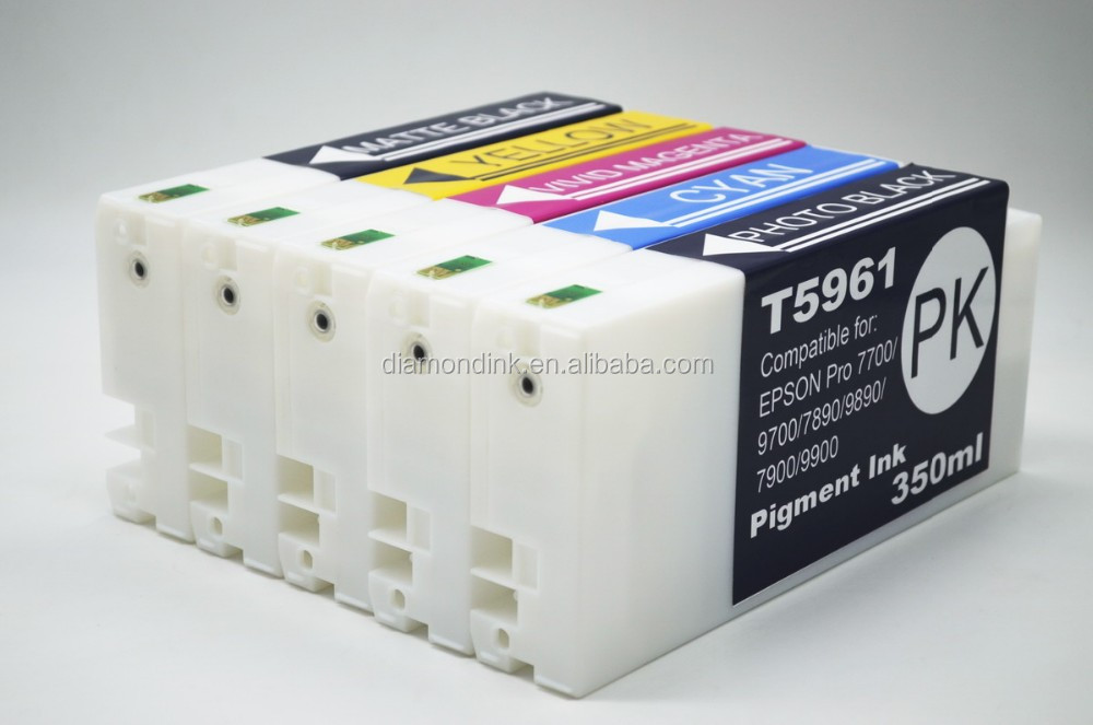 Compatible HYD T5961-T5969 ink cartridge with chip&Ink for Epson Pro 7890 printer,350ml