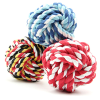 Wholesale Pet Cats and vibrating dogs chew toys colored cotton rope ball