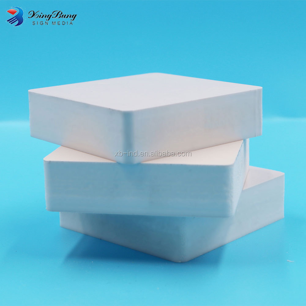 White high density 4x8 solid foam board / pvc plastic blocks for printing