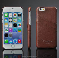 Cell phone back cover case card holder for Iphone 6, wholesale leather case cover for iphone 6s