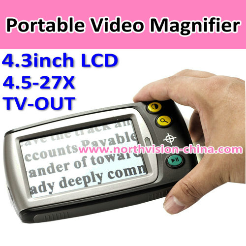 4.3 inches Handheld Portable LCD Digital Magnifier with Zoom 4.5-27X and TV OUT