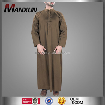 Men Gender And Adults Age Group Men Muslim Clothing Brown Men Thobe