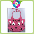 Custom good quality cartoon animal printed silicone infant baby bibs