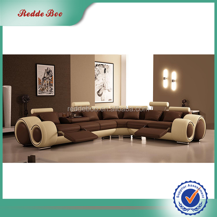 New design modern sectional latest leather corner sofa