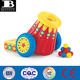 eco-friendly vinyl active inflatable cannon indoor and outdoor durable PVC funnyl blow up hop and pop ball cannon toys