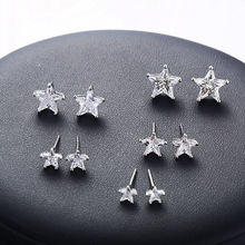AE8001801 xuping pictures of gold zircon star pendientes earrings