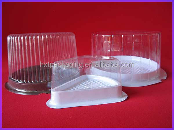 Single Plastic Cake Container with Hinged Lid (spot)