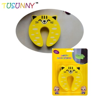 Child Kids Safety Door Stopper Cute Cartoon Animal EVA Finger Pinch Door Guard