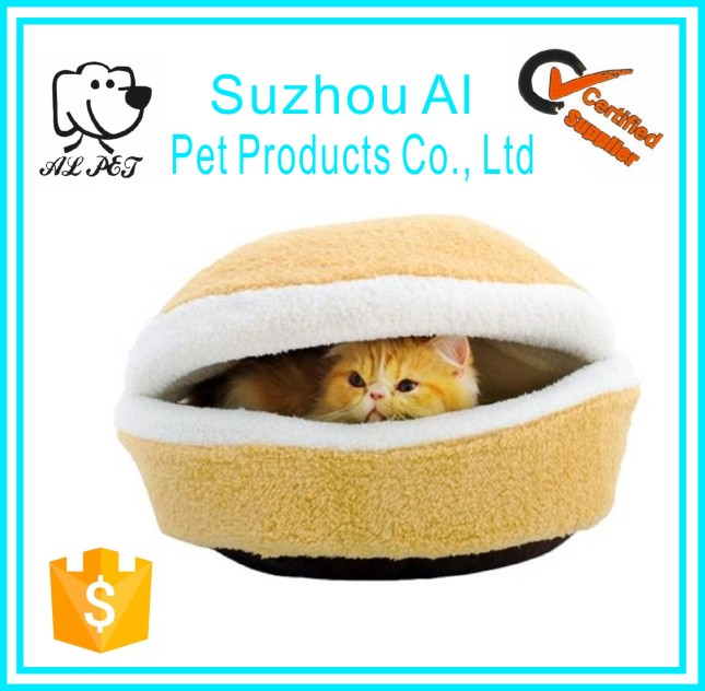 Soft Hamburger Shape Washable Pet Bed Warm Dog Sleeping Bag Cotton Cat House
