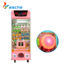 Leesche bill acceptor/coin operated claw crane machine Crazy Toy 3 arcade toy claw machine