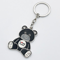 New Arrival Keychain Love London Custom Metal Enamel Mini Panda Keyring with Logo
