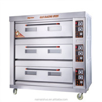 3 layer 9 tray Stainless Steel gas power source bakery equipment for sale