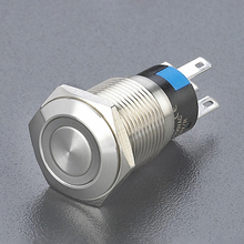 Ring illuminated metal push button 16mm LED Illuminated Pushbutton Switch Anti Vandal Push Button Switch