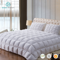 Cozy comfortable middle square box 90% goose down quilt fabric production line