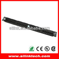 AMP cat5e 24 port patch panel 1U 19""