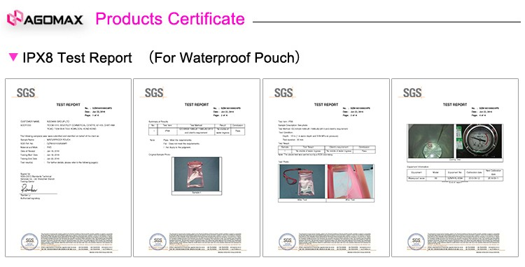 Free samples mobile phone waterproof plastic pouch