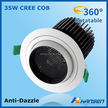 china supplier round cob led downlight 35w retail shops