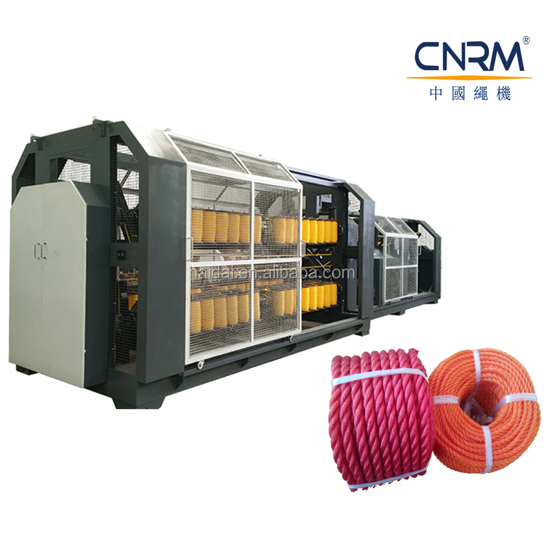 China Making 3~32 mm 3 strands/4 strands Plastic PP PE Rope Twine Machine for sale