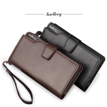 Wholesale baellerry men 3 fold high capacity pu leather wallet
