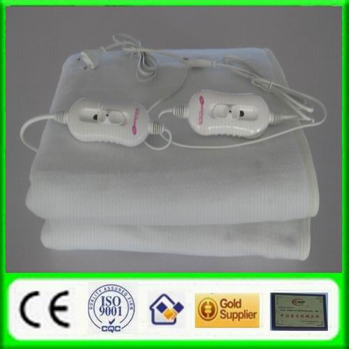 Tie Down Warm Fleece Electric Blanket Overheat Protect with Timer 220V CE