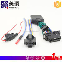 Meishuo male plug 9005 hb3 9145 h10 xenon wiring harness socket