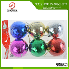 6cm plastic Christmas balls S/6 hot sale Xmas tree ornaments