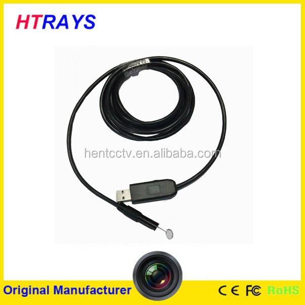 Mini 9mm digital 2MP endoscope HD camera 5M flexible snake tube usb inspection industry camera