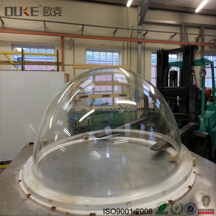 Multifuntional clear acrylic large plastic hemisphere display domes