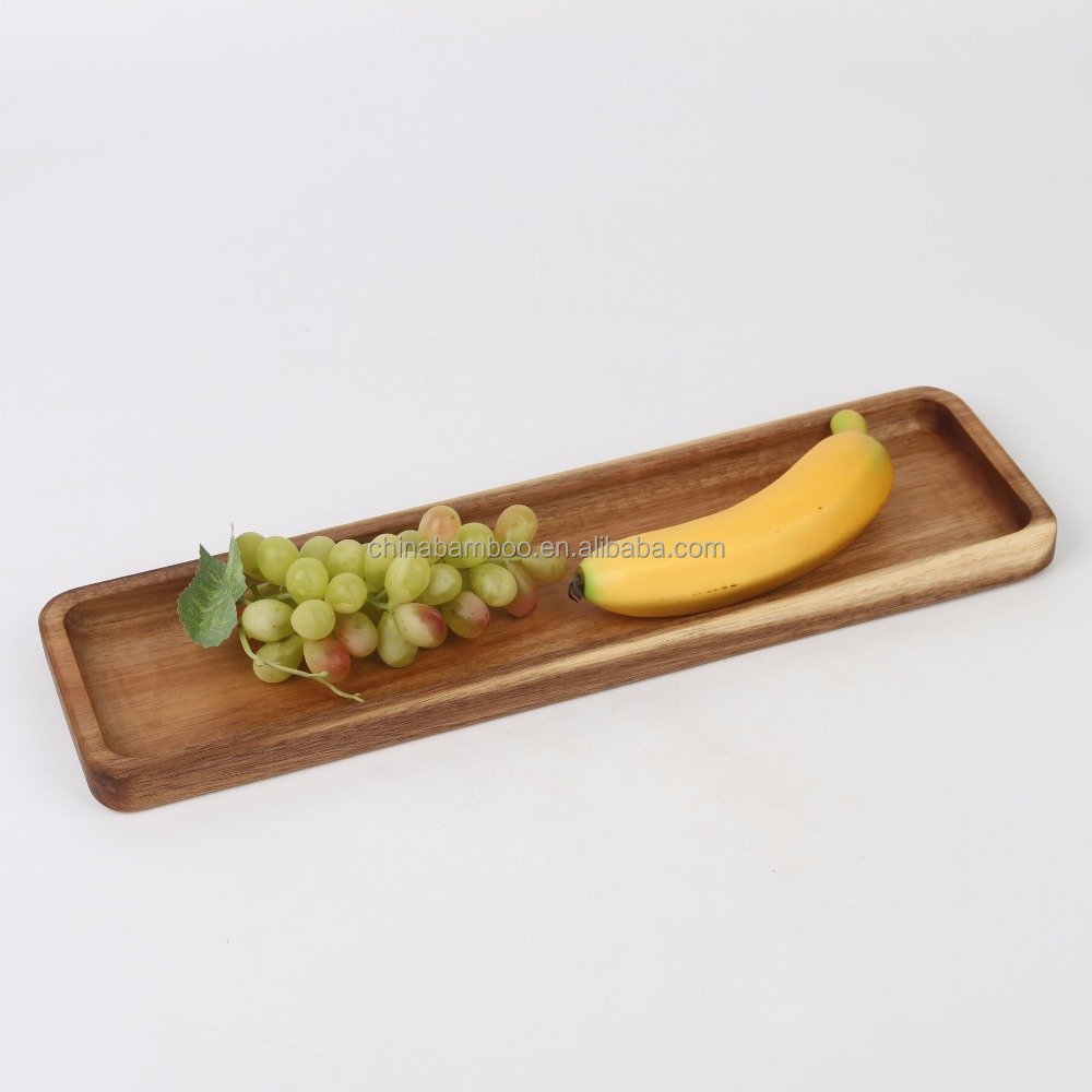 acacia wood dry fruit serving tray