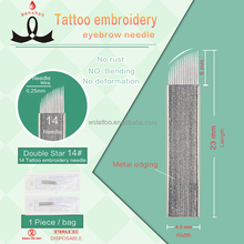 Double Star #14 Embroidery Micro Blade for Permanent Makeup Tattoo Needles Suppliers