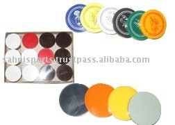 Plastic Carrom Coins & Stickers